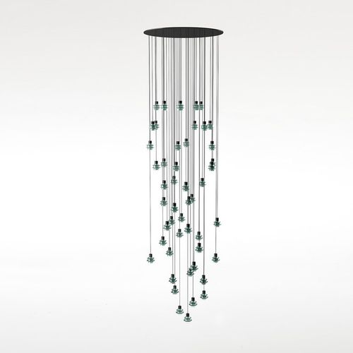 Pendant lamp / contemporary / blown glass / borosilicate glass DROP S/48L by Christophe Mathieu  BOVER Barcelona