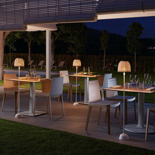 Floor-standing lamp / contemporary / synthetic fiber / outdoor ATTICUS P/114/R OUTDOOR BOVER Barcelona