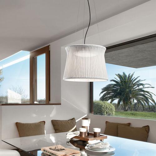 Pendant lamp / contemporary / aluminum / polyethylene SYRA 60 by Alex Fernández Camps & Gonzalo Milà BOVER Barcelona
