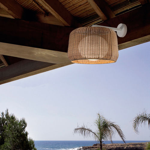 contemporary wall light / outdoor / aluminum / polyethylene