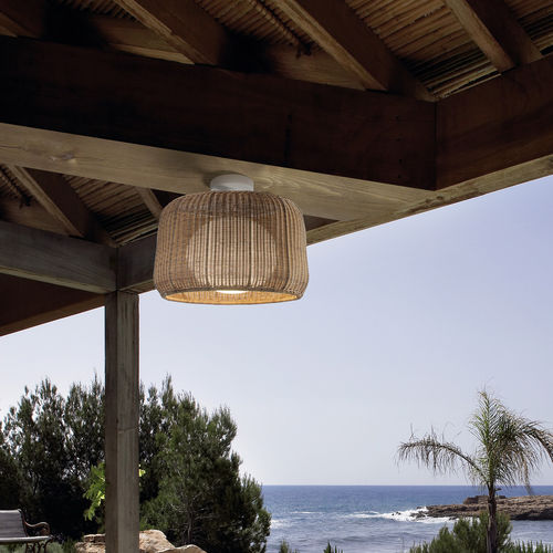 Contemporary ceiling light / round / polyethylene / LED FORA by Alex Fernández Camps & Gonzalo Milà BOVER Barcelona
