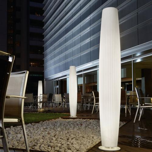 Contemporary light column / polyethylene / fluorescent / indoor MAXI P/180 OUTDOOR BOVER Barcelona