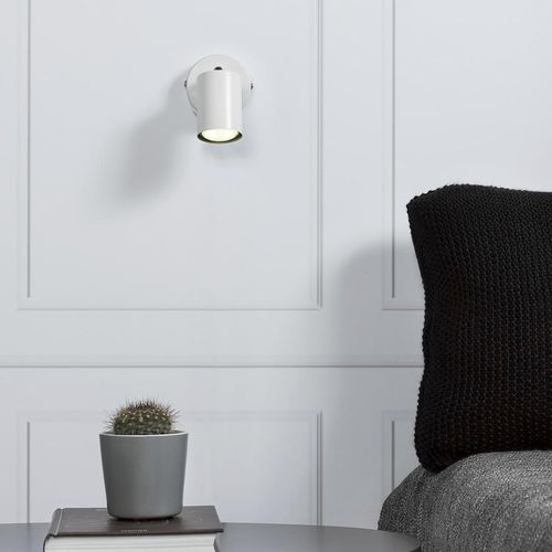 contemporary wall light / metal / incandescent / round