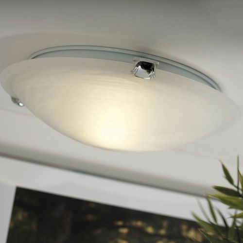 contemporary ceiling light / round / alabaster / fluorescent