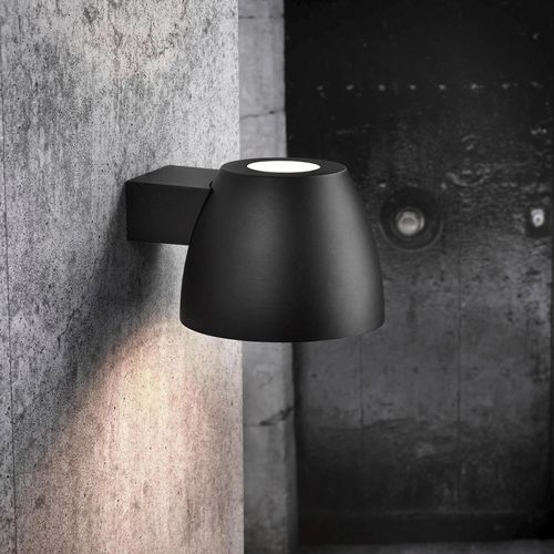 industrial style wall light / outdoor / aluminum / glass