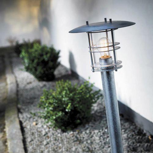 garden bollard light / traditional / galvanized steel / incandescent