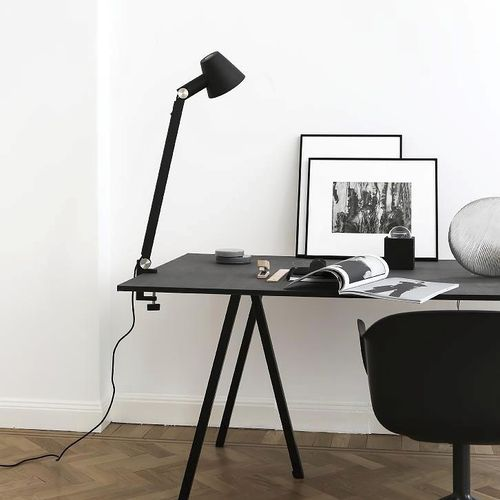 table lamp / contemporary / metal / black