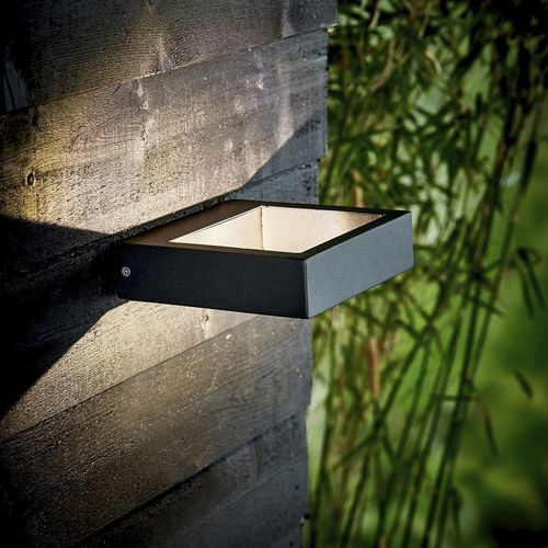 contemporary wall light / outdoor / lacquered metal / LED