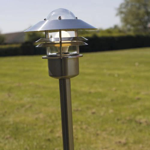 garden bollard light / traditional / stainless steel / copper