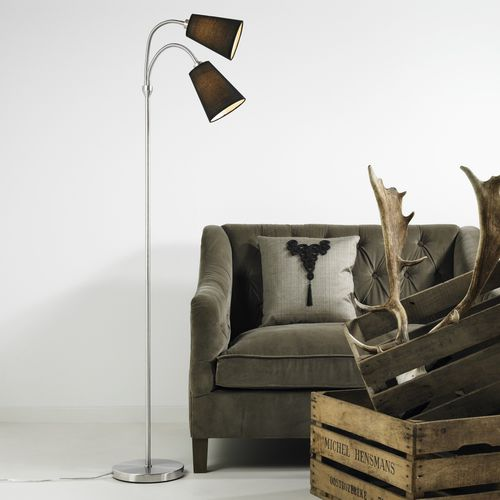 floor-standing lamp / contemporary / fabric / reading