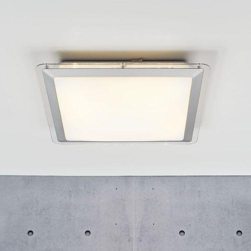 contemporary ceiling light / square / glass / plastic
