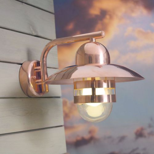 industrial style wall light / outdoor / copper / galvanized steel