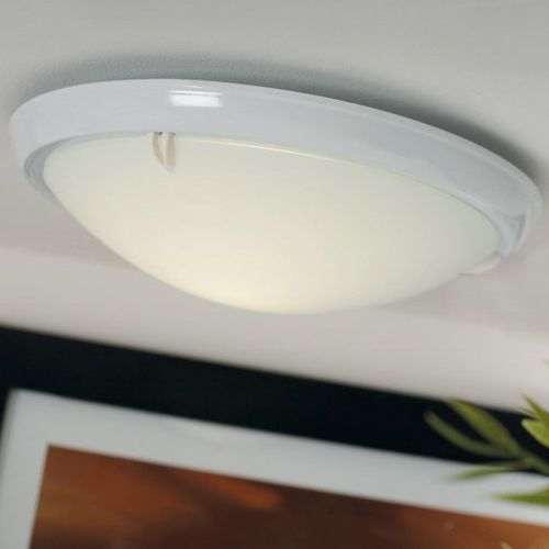 contemporary ceiling light / round / glass / fluorescent