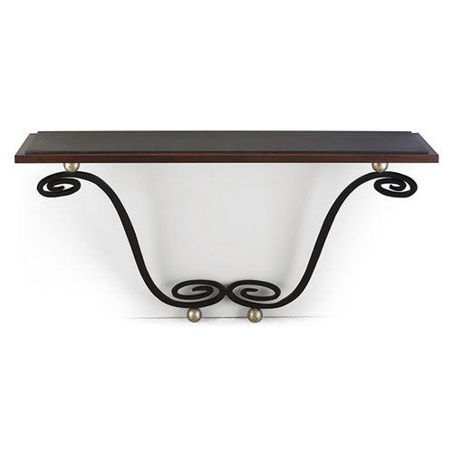traditional sideboard table / mahogany / wrought steel / rectangular