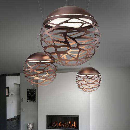 pendant lamp / original design / glass / metal