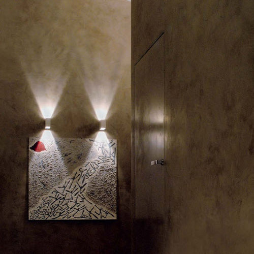 contemporary wall light / metal / LED / rectangular