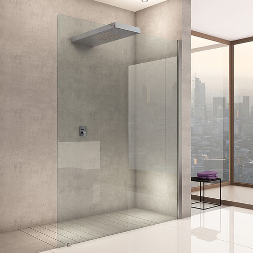 walk-in shower / glass / for alcoves