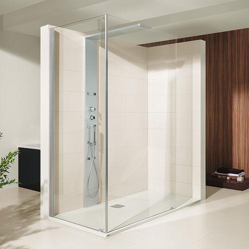 walk-in shower / glass / corner