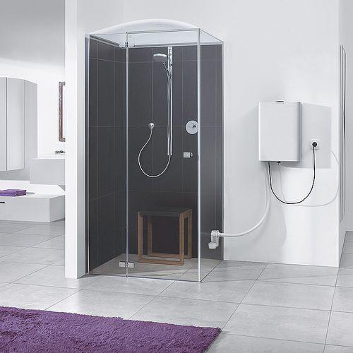 steam shower cubicle / glass / acrylic / corner