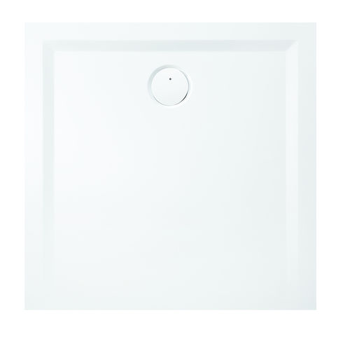 square shower base / stone resin / extra-flat / barrier-free
