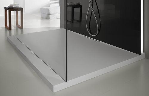 rectangular shower base / stone resin