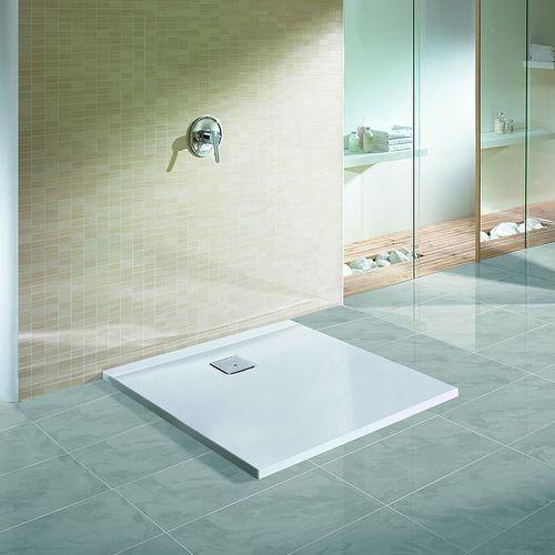 square shower base / acrylic / extra-flat / barrier-free