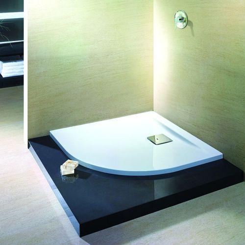Corner shower base / acrylic / extra-flat / non-slip THASOS: 6520 HOESCH Design