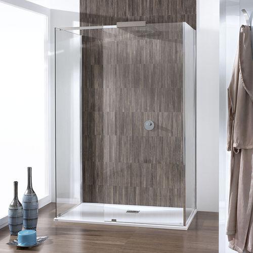 walk-in shower / glass / rectangular