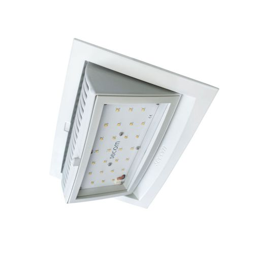 recessed ceiling spotlight / indoor / LED / rectangular