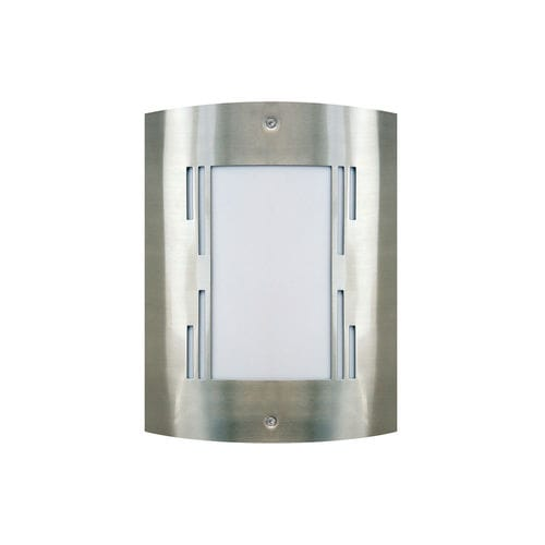 contemporary wall light / outdoor / stainless steel / plastic