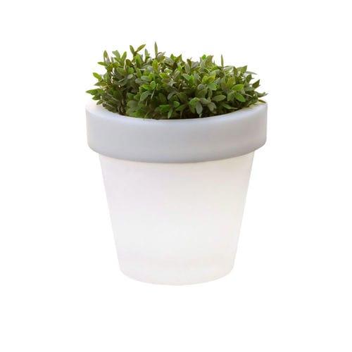 polyethylene garden pot / round / illuminated