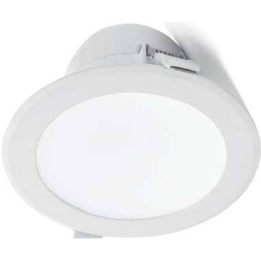recessed downlight / LED / compact fluorescent / round