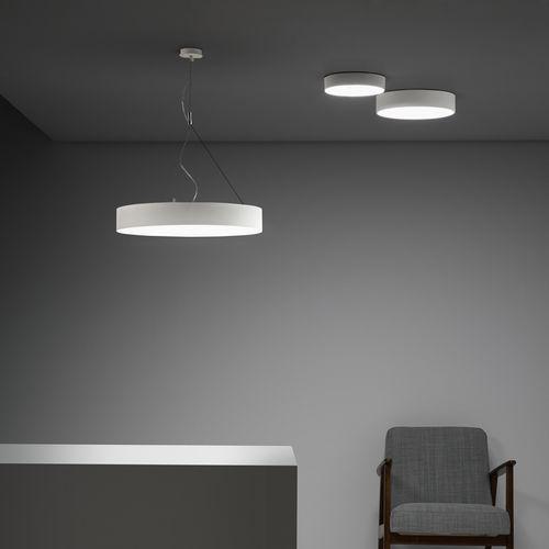 pendant lamp / contemporary / steel / white
