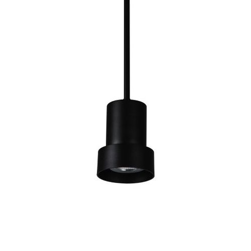 pendant lamp / contemporary / aluminum / black