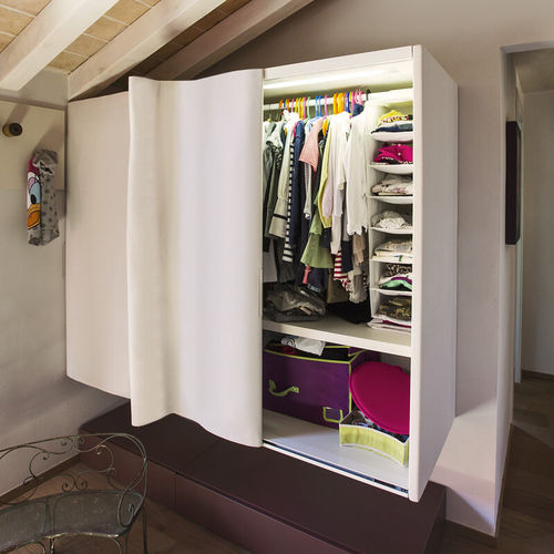 wall-mounted wardrobe / modular / contemporary / fabric