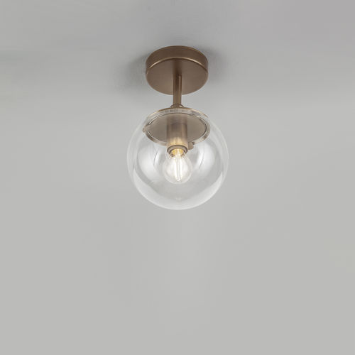 contemporary ceiling light / round / metal / polycarbonate