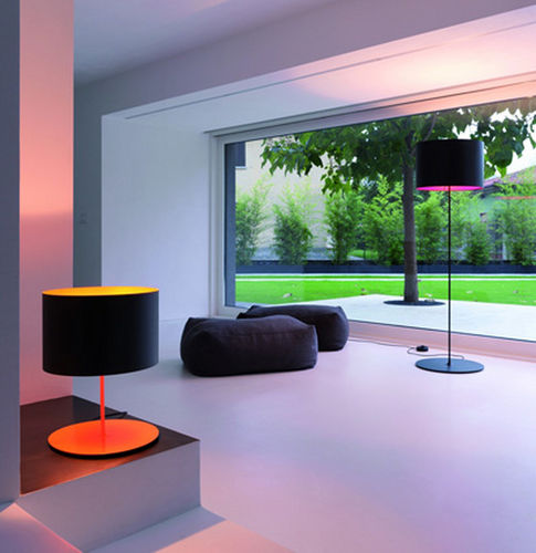 floor-standing lamp / contemporary / carbon fiber