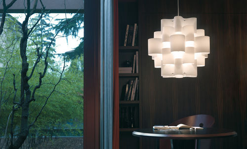 pendant lamp / contemporary / fabric