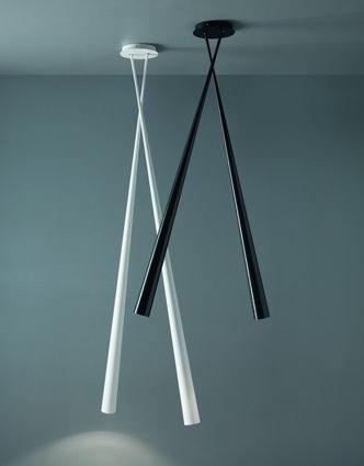 contemporary ceiling light / fiberglass / LED