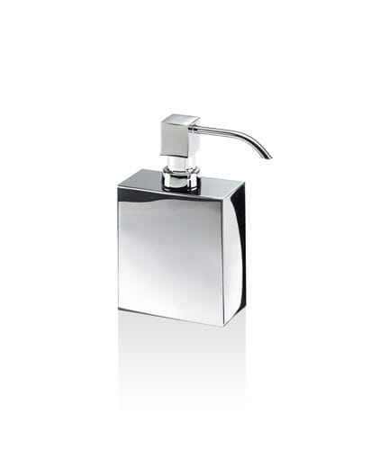 free-standing soap dispenser / chrome-plated brass / gold-plated brass / manual