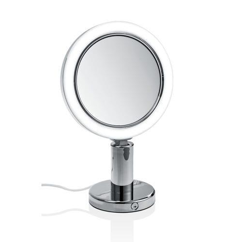table mirror / LED-illuminated / contemporary / round