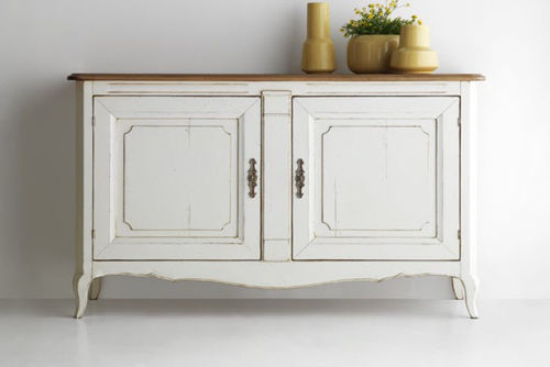 traditional sideboard / wooden / brass