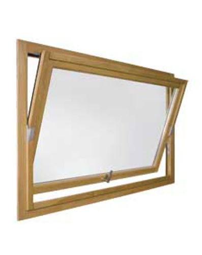 pivoting window / wooden