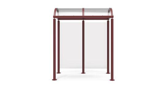 stainless steel bus shelter / aluminum / glass