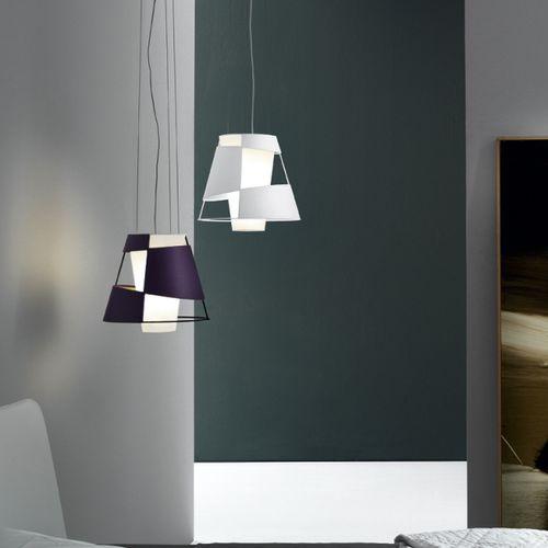 pendant lamp / original design / metal / cotton