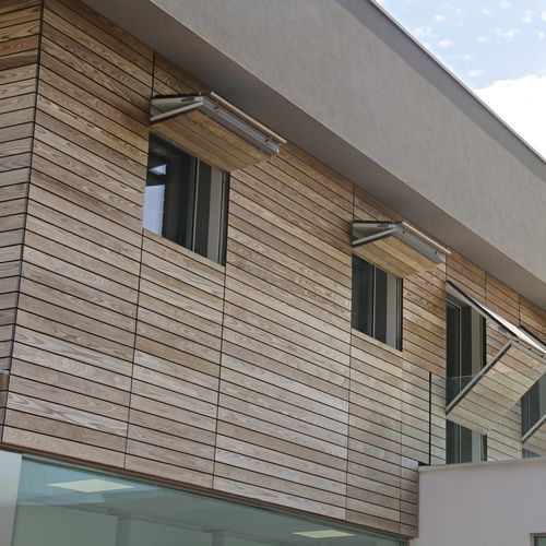 wooden cladding / HPL / smooth / strip