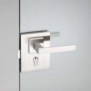 glass door handle / metal / contemporary / with lock