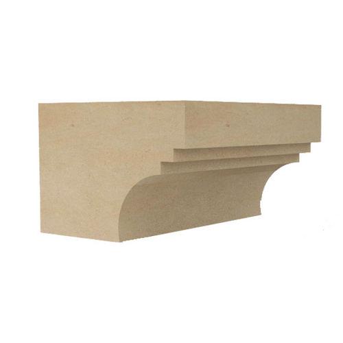 stone cornice / prefab / outdoor
