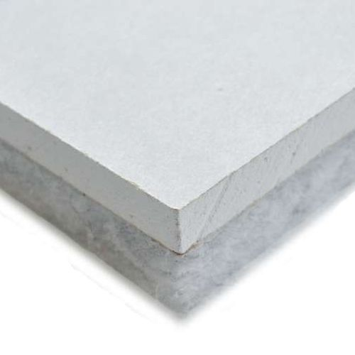 synthetic fiber core two-component insulation board / plaster coated / for walls