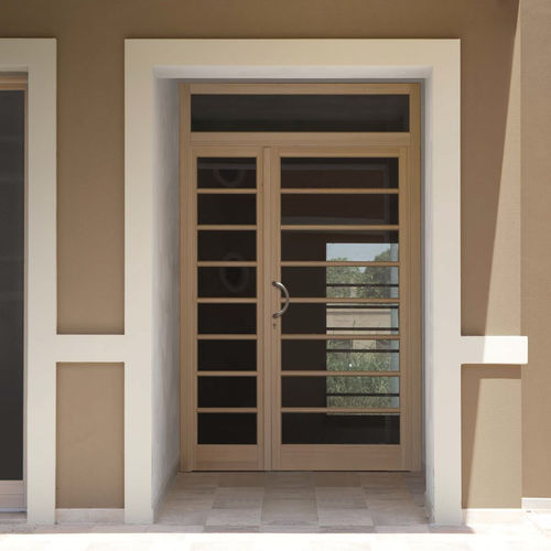 Entry door / swing / wooden / aluminum C70 CIPRIANI SERRAMENTI